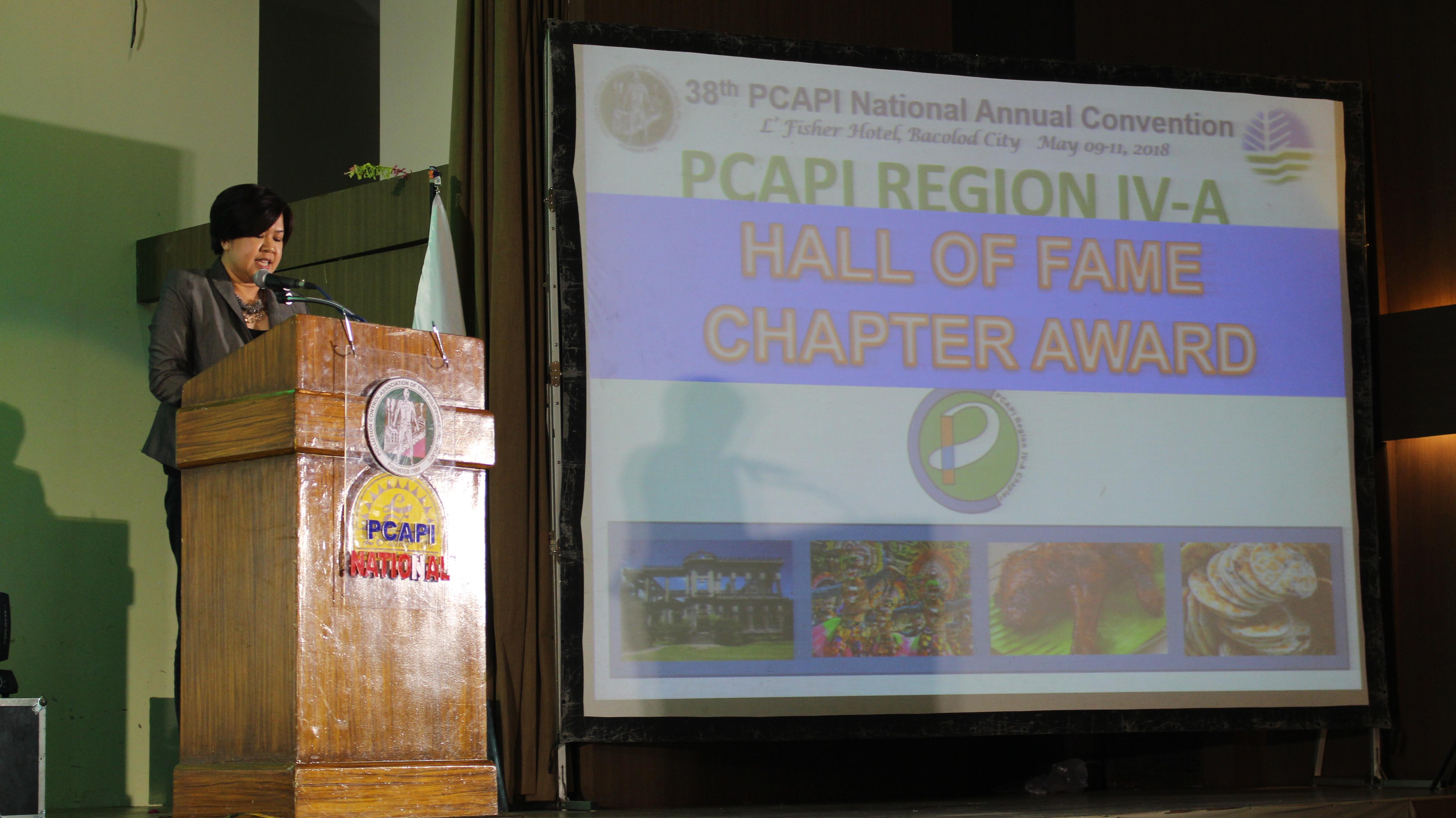 Hall of Fame Awardee